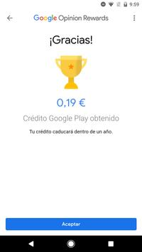 Google Opinion Rewards captura de pantalla 3