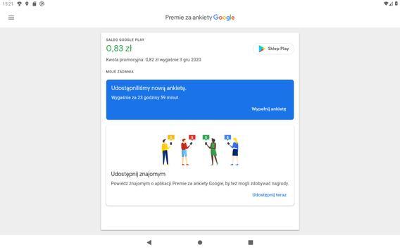 Premie za ankiety Google screenshot 9