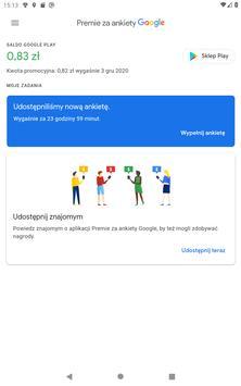 Premie za ankiety Google screenshot 5