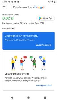 Premie za ankiety Google screenshot 1