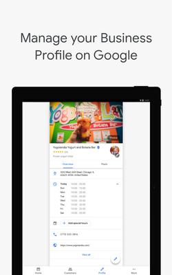 Google My Business Screenshots