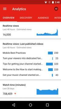 YouTube स्टूडियो स्क्रीनशॉट 7