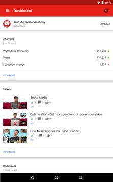 YouTube स्टूडियो स्क्रीनशॉट 9