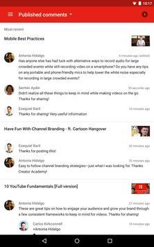 YouTube स्टूडियो स्क्रीनशॉट 13