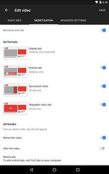 YouTube स्टूडियो स्क्रीनशॉट 12