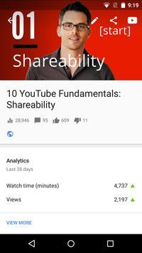 YouTube स्टूडियो स्क्रीनशॉट 3