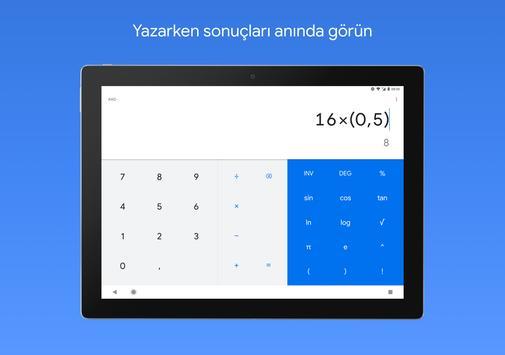 Hesap Makinesi Ekran Görüntüsü 5