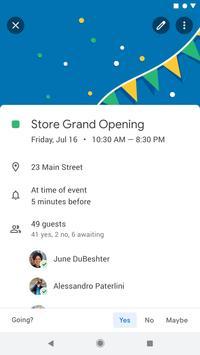 Google कैलेंडर स्क्रीनशॉट 1