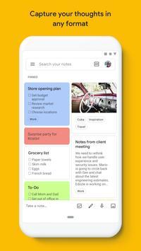 Google Keep: notas y listas Poster