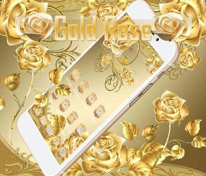 Gold Rose Theme luxury gold पोस्टर