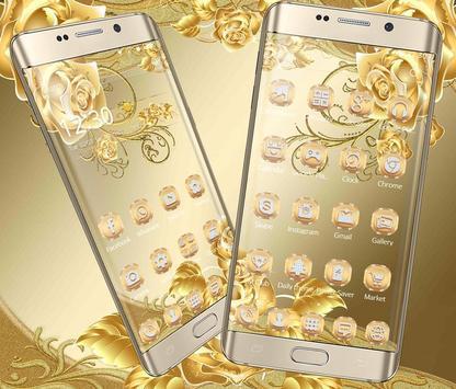 Gold Rose Theme luxury gold स्क्रीनशॉट 1