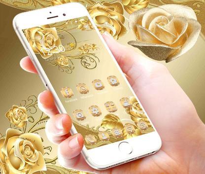 Gold Rose Theme luxury gold स्क्रीनशॉट 2