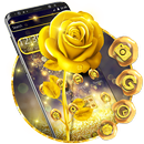 Luxury gold rose theme APK