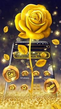 Luxury gold rose theme poster