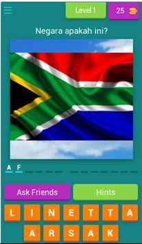 Teka Nama Bendera Negara poster