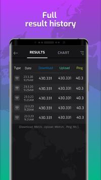Wifi Speed Tester dan Signal Strength, Speed Test syot layar 3