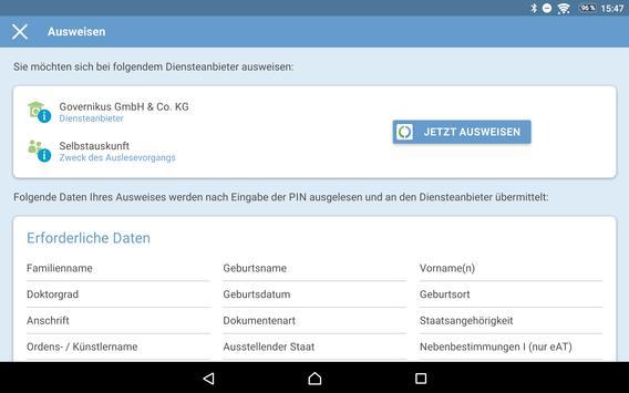 AusweisApp2 Screenshot 13