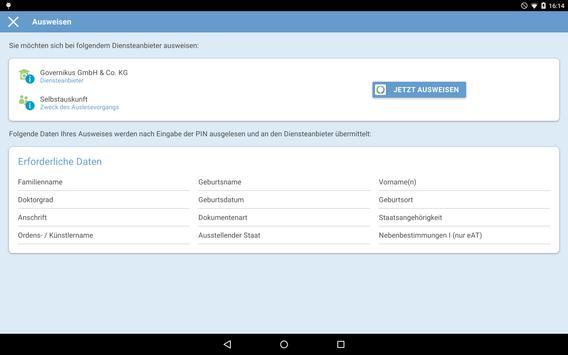 AusweisApp2 Screenshot 7