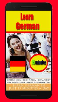 Learn German 15-Minute poster