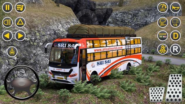 Public Coach Bus Driving Sim : New Bus Games 2020-poster