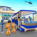 Transport Stickman Prisoner Bus Driving
