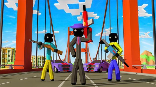 Stickman Mafia Theft Gangster Blocky City screenshot 4
