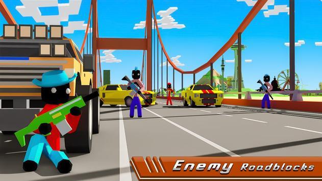 Stickman Mafia Theft Gangster Blocky City screenshot 1