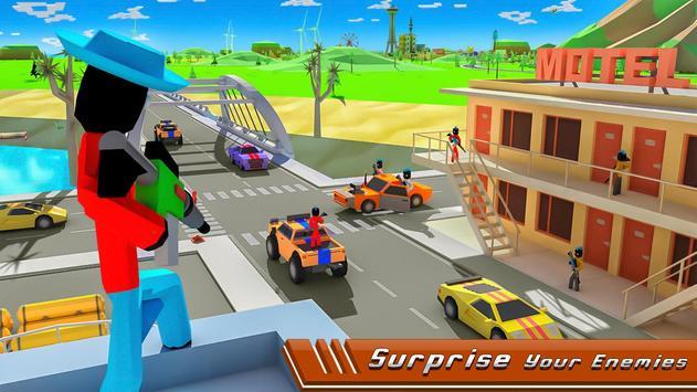 Stickman Mafia Theft Gangster Blocky City screenshot 2