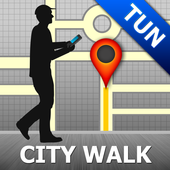 Tunis Map and Walks icon