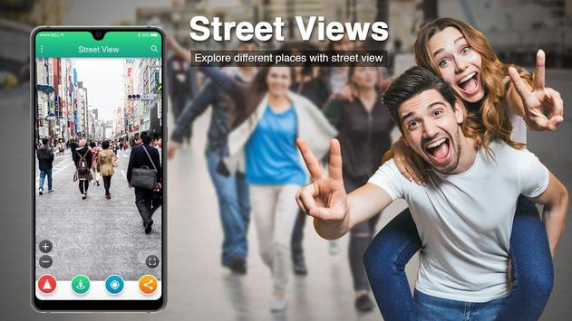Live Street View 2019 Satellite Live Gps Earth Map poster