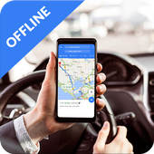 GPS Navigation Offline Route icon