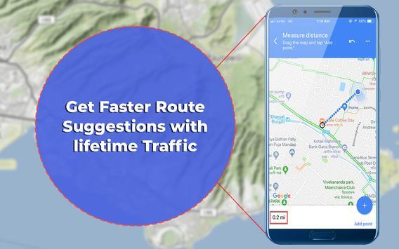 Car Navigation & Traffic Voice Directions Maps screenshot 1