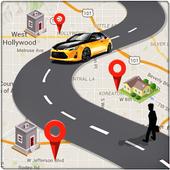 Icona GPS Route Finder e posizione POI Tracker GRATUITO
