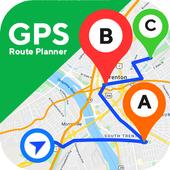 GPS طريق مخطط - طريق تعقب تطبيق أيقونة