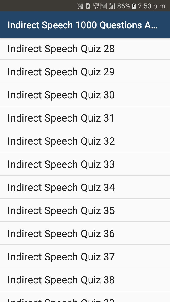 speech quiz questions