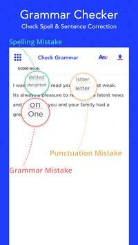 Grammar Checker, Check Spell & Sentence Correction Plakat
