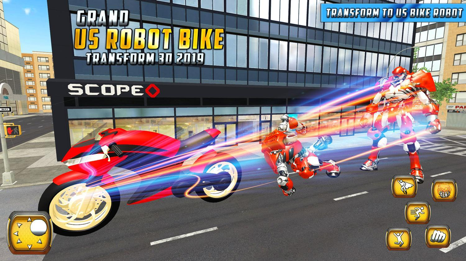 Us Power Bike Transform Robot Battle For Android Apk Download
