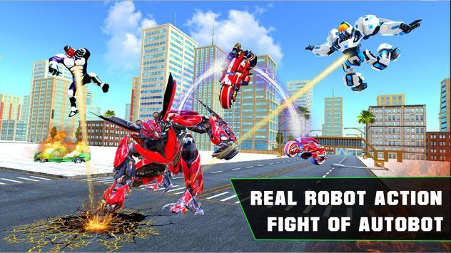 Grand Robot Bike Transform City Attack screenshot 5