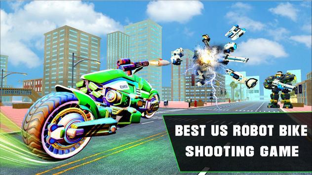 Grand Robot Bike Transform City Attack screenshot 6
