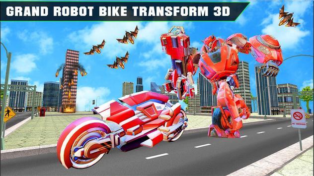 Grand Robot Bike Transform City Attack screenshot 7