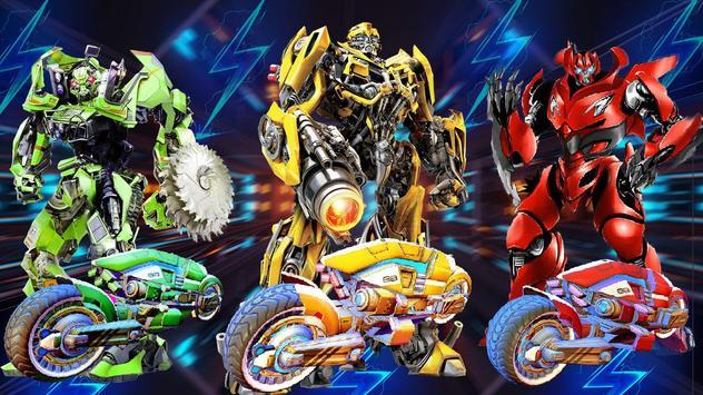 Grand Robot Bike Transform City Attack screenshot 8