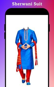 Men Sherwani Suit Photo Editor poster
