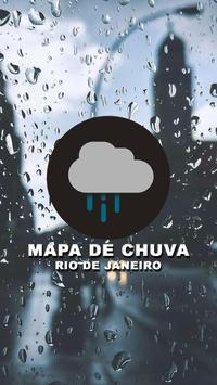 Mapa de Chuva RJ poster