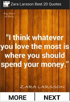 Zara Larsson Best 20 Quotes poster