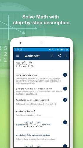Math Solver for Android - APK Download on evaluate indefinite integral with an e, evaluate the power, evaluate the limit,