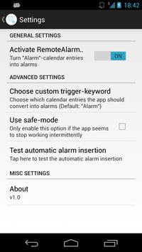 Remote Alarm Clock screenshot 1