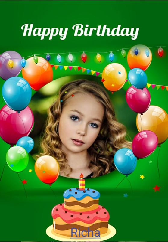Free Online Birthday Card Maker With Photo Frames Screenshot 1