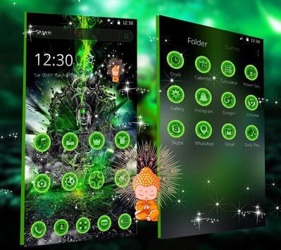 Green Lord Buddha Theme screenshot 2