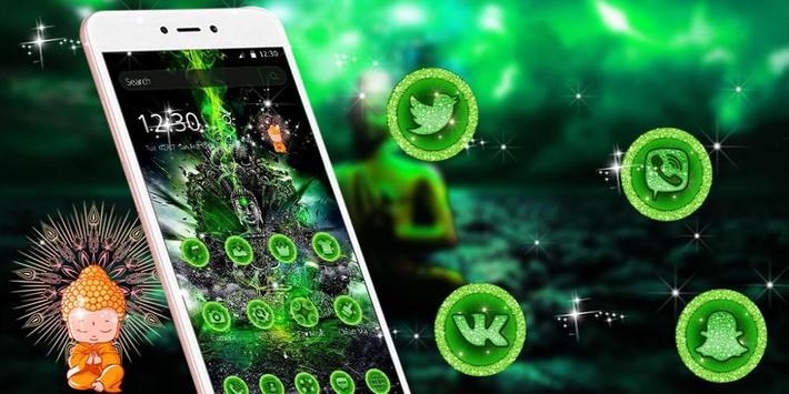 Green Lord Buddha Theme screenshot 3