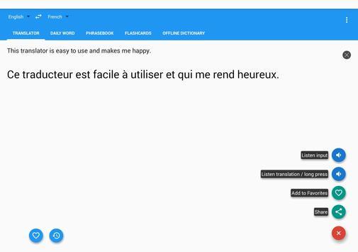 French English Translator Free screenshot 8